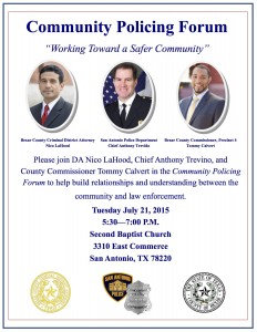 Community Policing Forum - FLYER